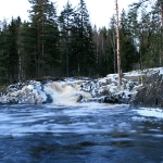 У трех водопадов