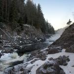 Нижний каскад водопада Кивач
