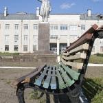 Ленин и скамейка